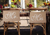 Jute Stuhlbanner Set Mr & Mrs